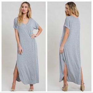NEW! Gray Maxi Dress!